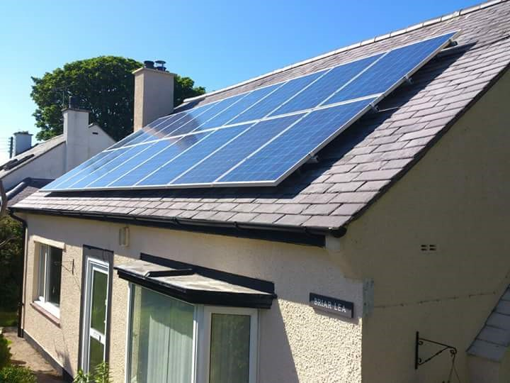 Solar panels installed by Rainhill Home Improvement and Energy Services